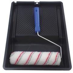 Kit para Pintura Não Respinga Econômico com 3 Peças Preto E Azul - Castor