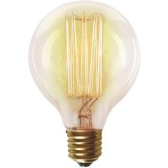 Lâmpada Incandescente com Filamento de Carbono G80 40w 110v 2200k Luz Amarela