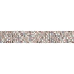 Listelo Oriente Retificado Acetinado Colorido 15x87,7cm - Portinari