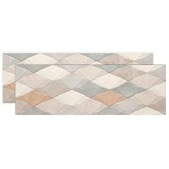 Listelo Retificado Color Hd Decorado Mix 29,1x87,7cm com 4 Peças - Portinari