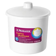 Lixeira em Polipropileno Multiuso 6 Litros Branca - Primafer