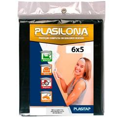 Lona Plástica Plasilona 6x5m Preta - Plasitap