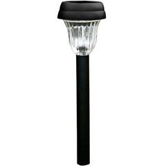 Luminária Balizadora Decorativa em Abs Solar Preta