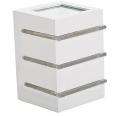 Luminária Balizadora em Alumínio Flip 12,5cm Branca - Blumenau