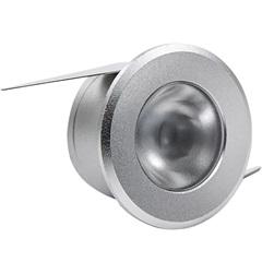 Luminária de Led Redonda de Embutir 1w Bivolt Intelligent 2700k Prata - Brilia