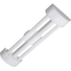 Luminária em Alumínio para 3 Lâmpadas Barcelona Led Tube 126x19cm Branca