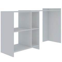 Mesa Office em Mdp Solares 130x79,5cm Branca - Líder Design