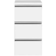 Módulo Slim com 3 Gavetas Branco - Bumi Móveis