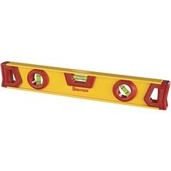 """Nível de Alumínio 14"""" Amarelo E Vermelho - Starrett"""