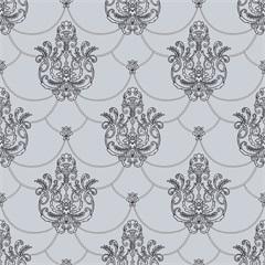 Papel de Parede Decor Tradicional Texturizado Cinza E Preto 0.53x10m - Colorful