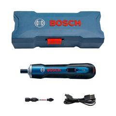 Parafusadeira a Bateria 3.6v de Ion Lítio Bivolt Go com Estojo + Bits E Pontas Azul E Preta - Bosch