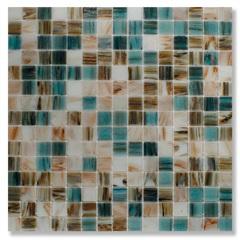 Pastilha de Vidro Ouro Bege E Cinza 32,2×32,2cm - Colormix