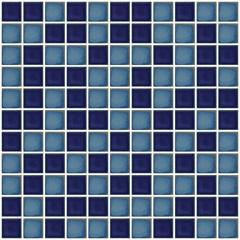Pastilha Esmaltada Méditerranée Mescla Azul 2,5x2,5cm - Jatobá