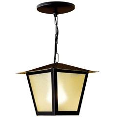 Pendente em Aço para 1 Lâmpada Colonial 33x20cm Preto - Ideal Iluminação