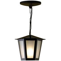 Pendente em Aço para 1 Lâmpada Colonial 34x19cm Preto - Ideal Iluminação