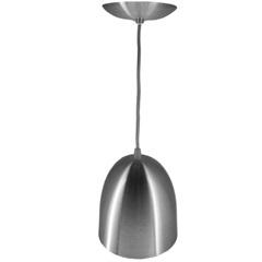 Pendente em Alumínio para 1 Lâmpada Escovado