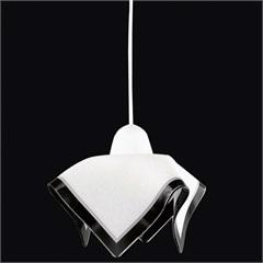 Pendente Tulipa Color para 1 Lâmpadas Branco E Preto   - Auremar