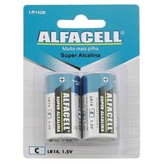 Pilha Média Alcalina 1,5v 2 Unidades - Alfacell