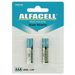 Pilha Palito Alcalina Aaa 1,5v 2 Unidades - Alfacell