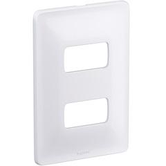 Placa 4x2 2 Postos Separados Zeffia Branco - Pial Legrand