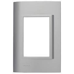 Placa 4x2 para 3 Módulos Alumínio Vivace - Siemens