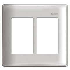 Placa 4x4 6 Postos Horizontais com Suporte Simon 19 Branca - Simon