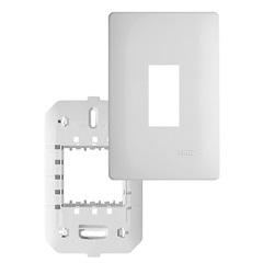 Placa com Suporte 4x2 para 1 Posto Habitat Branca