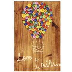 Placa Decorativa Balões de Botão 40x60cm Marrom - Império Decore