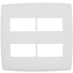 Placa para 2 + 2 Postos Separados 4x4 Pialplus Branca - Pial Legrand