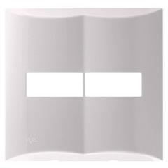 Placa para 2 Módulos com Suporte 4x4 Brava Branco - Iriel