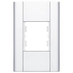 Placa para 2 Módulos Horizontais 4x2 Modulare Branca