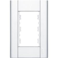 Placa para 3 Módulos Horizontais 4x2 Modulare Branca