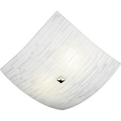 Plafon em Vidro Quadrado para 2 Lâmpadas Matrix 30cm Branco - Bronzearte