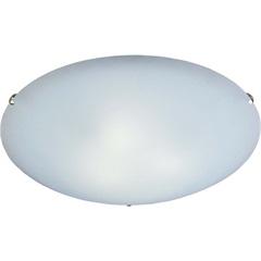 Plafon em Vidro Redondo para 1 Lâmpada Clean 25cm Branco E Cromado