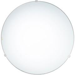 Plafon em Vidro Redondo para 2 Lâmpadas Clean 30cm Branco