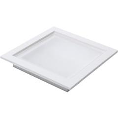 Plafon Led de Embutir 18w Bivolt 20cm Preto 6000k Luz Branca - RCG Tecnologia