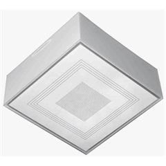 Plafon para 1 Lâmpada Valência Transparente Quadrado - Tualux