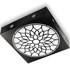 Plafon Quadrado Árabe Preto 6000k Luz Branca - RCG Tecnologia