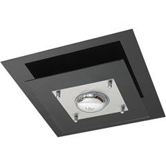 Plafon Quadrado para 1 Lâmpada Spacial Preto - Pantoja & Carmona