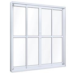 Porta de Correr Central com Travessa Ideale 215x200cm Branco