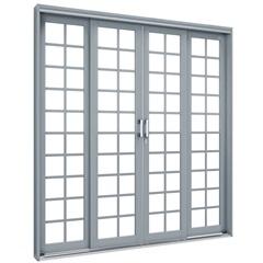 Porta de Correr Central Premium 213x200cm Cinza