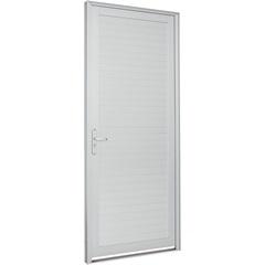 Porta Direita com Lambri Horizontal Alumifort 216x98cm Branca - Sasazaki