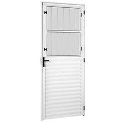 Porta Esquerda com Vidro Canelado Viena New 210x86cm Brilhante - Ebel