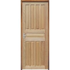 Porta Maciça Montada Direta Mista Americana 210x80cm - Sidney Esquadrias