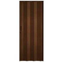 Porta Sanfonada Plast Porta com Puxador E Trinco 210x84cm Imbuia