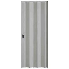 Porta Sanfonada Plast Porta com Puxador E Trinco 210x96cm Cinza - BCF