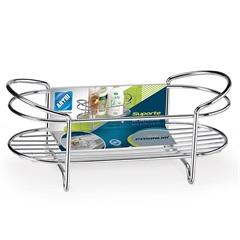 Porta Shampoo para Bancada Premium Cromado - Arthi