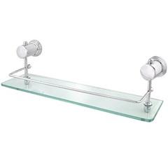 Porta Shampoo Simples Cromado Náutico - Forusi