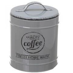 Pote em Metal Coffee Lille Cinza 13,3cm - Casa Etna