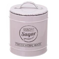 Pote em Metal Sugar Lille Bege 13,3cm - Casa Etna